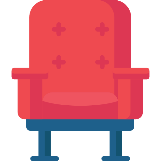graphic of a red armchair